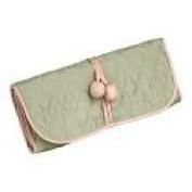 Green Silk Jewellery Roll or Cosmetic Roll By Zazendi