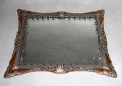 Brown W/ Amber Stones Vanity Tray 25.4cm x 31.1cm  - DT57