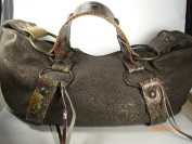 Genuine distorted Leather Bag