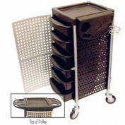 Celebrity 6-Tray Lockable Salon Trolley With Organiser