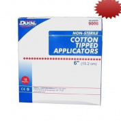 Cotton Tipped Applicators,Non-Sterile,6, 1000/BX