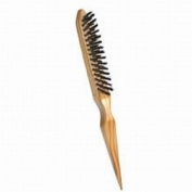 Scalpmaster Natural Wood Teasing Brush / 3 Row