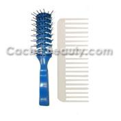 Bobby Original Vent Brush * Blue With Free Glitzz! Volumizing Comb
