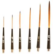 Mack Brush BP-00 SCROLL BRUSH HEAD BLACK PLAQUE TAKON HAIR