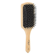 Brush Strokes Wooden Cushion Paddle Brush
