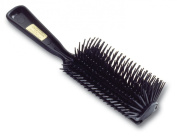 William Marvy Hair Brush 1921 Row Poly Pin-Black, 6 Pack