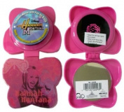 Disney Hannah Montana Pop-up Travel Hairbrush - Folding Hair Brush and Compact Mirror