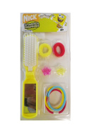 Spongebob Hair Brush & Accessories 8pc Set - Spongebob Hairbrush