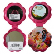 Disney Fairies Pop-up Travel Hairbrush - Tinker Bell & Friends Folding Hair Brush and Compact Mirror