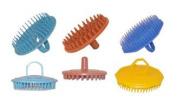 6 Shampoo Brushes * 2 Each Of Marvy Rubber, Diane Plastic & Century Plastic