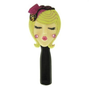Stylish Hairbrush Blonde with Hat Purple 22.2cm L