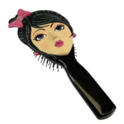 Classic Hairbrush Brunette with Bejewelled Bow Barrett and Earrings