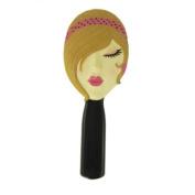 Stylish Hand Mirror Blonde Fuchsia Headband Jewelled 22.9cm L