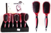Hairbrush Assortment Rust and Black LOT of 6 SKU:6870-1
