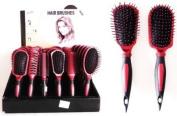 Hairbrush Assortment Rust and Black LOT of 6 SKU:6870-1