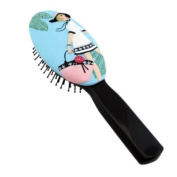 . Hairbrush Fashion Girl Tropical Leaves