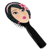 Classic Hairbrush Brunette with Bejewelled Flower Headband