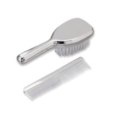 Nickel-plated Girls Brush and Comb Set