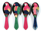 Wholesale Pack Handpainted Assorted Parrot Bird Hair Brush