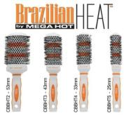 Brazilian Heat Thermal Ceramic & Ionic Brushes Set CBBHT1