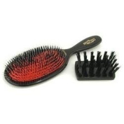 Boar Bristle & Nylon - Popular Mixture Bristle & Nylon Hair Brush ( Dark Ruby ) - Mason Pearson - Hair Brushes - 1pc