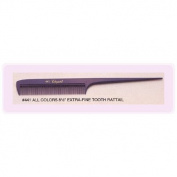 Cleopatra 21.6cm Extra Fine Tooth Rattail Comb #441 * Plum