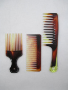 Tortosie Colour 3pcs Comb Set #84