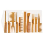 Gold Magic 10 pc. Bone Comb Rollup Set BONE-10