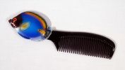 Handpainted Blue Tropical Fish Comb