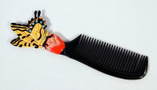 Handpainted Tiger Yellow Butterfly Insect Comb