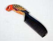 Handpainted Yellow Parrot Bird Comb