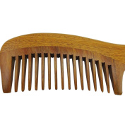 Anti-static Sandalwood Comb with Handle for Curly Hair