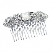 Bridal Wedding Jewellery Crystal Rhinestone Vintage Dazzle Hair Comb Pin Silver