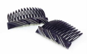 Premium Side Comb European Made in Black Candy Twist 1057/2