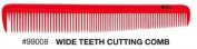 iTech Wide Tooth Cutting Ceramic Carbon Comb Static- + A-Viva Magic 4 Sided Nail Buffer