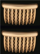 Premium Side Comb European Made in Gold 855/2