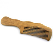 Xiaoping Natural Hand Carved Sandalwood - Wood Comb With Beautiful Aromatic Smell - 19.1cm