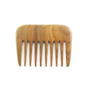 Crystalmood Handmade Wide-Tooth Long Teeth Lignum-vitae Wood Hair Comb