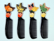 Wholesale Pack Handpainted Assorted Butterfly Insect Comb