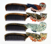 Wholesale Pack Handpainted Assorted Owl Bird Comb