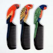 Wholesale Pack Handpainted Assorted Parrot Bird Comb