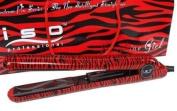 Iso Beauty Ceramic Pro Flat Iron Straightener Red Zebra