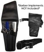 Oster / Eickert Leather Shear Holster * Holds 4 Shears Or Use The 4 Pockets For Shear, Clips & Combs