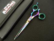ASAMI Swivel Thumb 15.2cm Profestional Barber Shears Titanium Coated ART6138