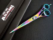 17.8cm ASAMI Professional Titanium Coated 440c Japanese Stainless Steel Scissors ART6144