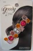 Goody Luxe Tatianna Pink and Orange Rhinestone Barrette