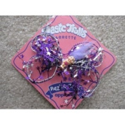 Lucky Troll Hair Barrette....... Troll Has Purple Hair