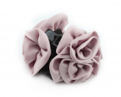 Fashion Ribbon Flower Rose Bride Hair Claw Clip Pin Ladies Women Accessory Pink