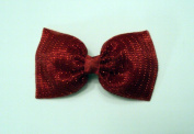 Red Sparkle Christmas Holiday Hair Bow Barrette