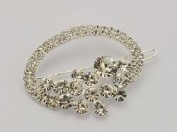 Rhinestone Oval Hair Barrette for Wedding, Prom or Special Occasion